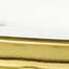 Tischplatte: Weiß, marmoriert Gestell: Messing