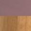 Velluto rosa, gambe legno di quercia