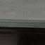 Tafelblad: melkachtig, marmeren print. Frame: zwart