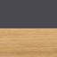 Struttura: nero Ripiani: legno di paulownia oliato