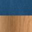 Tapicerka: ciemnoniebieski Nogi: drewno dębowe