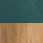 Tapicerka: butelkowozielony Nogi: drewno dębowe