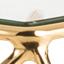 Tafelblad: glas. Frame: glanzend goudkleurig