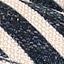 Vorderseite: Graublau, Hellbeige, Schwarz Rückseite: Hellbeige Keder: Schwarz