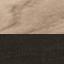 Corpo: legno di quercia, nero tinto Frontale: legno di quercia, nero