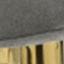 Bezug: Grau Füße: Goldfarben