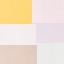 Marrone, toni rosa, verde, giallo, viola