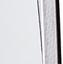 Ziffernblatt: Weiß  Zeiger: Schwarz  Rahmen: Aluminium