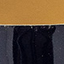 Buitenkant: donkerblauw. Binnenkant: goudkleurig