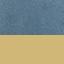 Revêtement: bleu ciel Pieds: couleur dorée, brillant