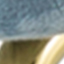 Bezug: Hellblau Füße: Goldfarben, glänzend