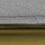 Bekleding: grijs. Poten: glanzend goudkleurig