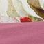 Burgundowy, wielobarwny (biały, zielony, żółty)