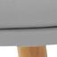 Sitzfläche: Grau  Beine: Buchenholz, glänzend