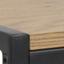 Tafelblad: eikenhoutkleurig. Frame: zwart