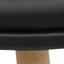 Sitzfläche: Schwarz  Beine: Buchenholz, glänzend