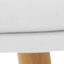 Sitzfläche: Weiß  Beine: Buchenholz, glänzend