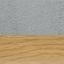 Rivestimento: grigio chiaro Gambe: metallo effetto rovere