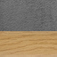 Rivestimento: grigio scuro Gambe: metallo effetto rovere