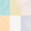 Bruin, mintturquoise, gebroken wit, oranje, roze, lila, geel