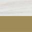 Plateau: marbre blanc-gris Structure: couleur dorée, brillant