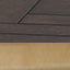 Piano d'appoggio: legno di mango, verniciato scuro Struttura: dorato