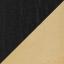 Korpus: Eichenholz, schwarz lackiertFuß: Goldfarben