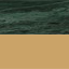 Tafelblad: groen marmer. Frame: glanzend goudkleurig