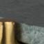 Piano d'appoggio: verde marmorizzato Gambe: ottone
