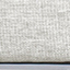 Tessuto bianco crema, piedini argento