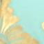 Turquoise, couleur dorée, brun foncé