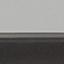 Piano d'appoggio: vetro tinto nero Struttura: nero opaco