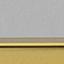 Tischplatte: Glas, schwarz getöntGestell: Goldfarben, glänzend