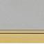 Piano d'appoggio: vetro tinto nero Struttura: dorato lucido