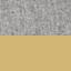 Tessuto grigio chiaro, gambe dorate