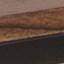 Blat: drewno akacjowe, lakierowany Stelaż: czarny, matowy