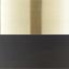 Lampenkappen: mat zwart. Baldakijn en lampframe: geborsteld messingkleurig