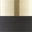 Lampenschirme: Schwarz, matt Baldachin und Lampengestell: Messing, gebürstet