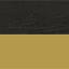 Tafelblad: zwart marmer Frame: glanzend goudkleurig