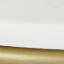 Tafelblad: wit marmer. Frame: mat goudkleurig
