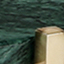 Blat: zielony marmur Stelaż: odcienie złotego, matowy