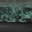 Piano d'appoggio: marmo verde Struttura: nero opaco