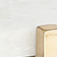 Tischplatte: Weißer Marmor Gestell: Goldfarben, matt
