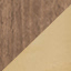 Corps: placage en bois de noyer Pied: couleur dorée, brillant brossé
