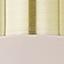 Klosz: blady różowy, matowy Osłona mocowania sufitowego i Stelaż lampy: mosiądz,