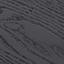 Tischplatte: Glas, schwarz getönt Ablagefläche: Eschenholzfurnier, schwarz