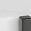 Tischplatte: Weißer Marmor Gestell: Schwarz, matt