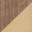 Frame: walnoothoutfineer. Voet: goudkleurig, glanzend geborsteld