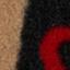 Schwarz, Beige, Rot
