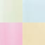 Blau, Grün, Rosa, Gelb